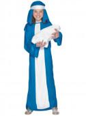 Fato Azul e branco da Virgem María