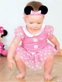 Fato Bebé Minnie Rosa
