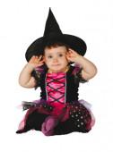 Fato bruxinha rosa para bebé halloween