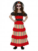 Fato Carnaval Catrina Mexicana Vermelha
