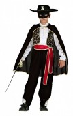 Fato Carnaval de criança Menino Zorro