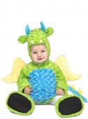 Fato Carnaval Dinossauro Peluche Verde Infantil