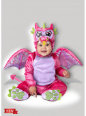 Fato Carnaval Dragão Rosa Bebé