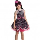 Fato Carnaval e Peruca Monster High Draculaura Sweet 1600