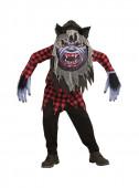 Fato Carnaval Homem lobo assustador