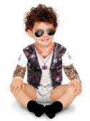 Fato Carnaval Motard Tatuado Bebé
