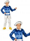 Fato Carnaval Pajem Real Azul