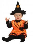 Fato Carnaval Pumpkin Witch Bebe