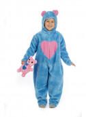 Fato Carnaval Urso Carinhoso Azul