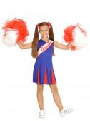 Fato cheerleader azul para menina