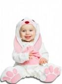 Fato Coelha orelhas rosa para bebé