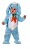 Fato Coelho Bebé Azul Cenoura
