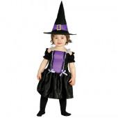 Fato da bruxa violeta para bebé halloween