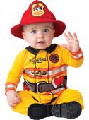 Fato de bombeiro corajoso para bebé