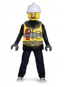 Fato de bombeiro Lego infantil