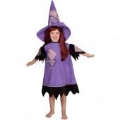 Fato de bruxa quente menina
