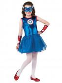 Fato de Capitão América para menina