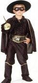 Fato de Carnaval de Criança Menino Zorro