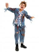 Fato de colegial zombie para menino