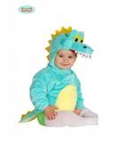 Fato de crocodilo azul para bebé