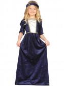 Fato de Dama Medieval azul