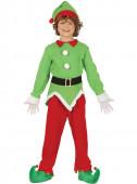 Fato de elfo ajudante verde