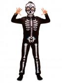 Fato de esqueleto dia dos mortos - menino