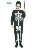 Fato de esqueleto ossinhos para menino