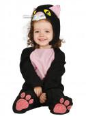 Fato de Gato negro para bebé