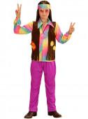 Fato de Hippie arco-iris