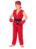 Fato de Kung Fu vermelho