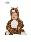 Fato de leopardo travesso para bebé