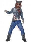 Fato de lobo lutador zombie