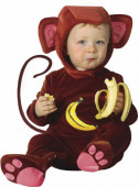 Fato de macaco bananeiro para bebé