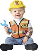 Fato de mecânico para bebé