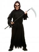Fato de morte tenebrosa para menino halloween