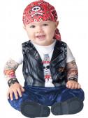 Fato de motoqueiro para bebé