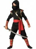 Fato de ninja negro deluxe