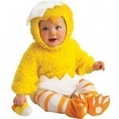 Fato de pintainho bebé