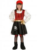 Fato de Pirata Caveira para menina