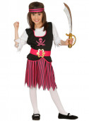 Fato de pirata dos mares para menina