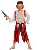 Fato de pirata vermelho