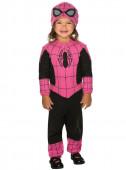 Fato de Spidergirl rosa para bebé
