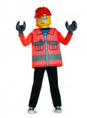 Fato de trabalhador da construção civil Lego infantil