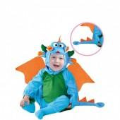 Fato Dragãozinho azul para bebé