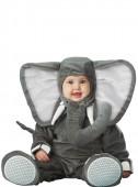 Fato elefante cinzento para bebé