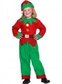 Fato Elfo verde e vermelho infantil
