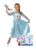 Fato Elsa Frozen com microfone e caixa