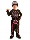 Fato esqueleto dia dos mortos para bebé