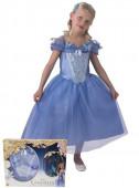 Fato fantasia Cinderela Azul Celeste